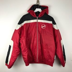 Vintage 90's FILA Soccer Jacket Colorblock Parka